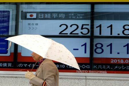 Markets in Asia mixed, with Japan lagging as trade concerns simmer