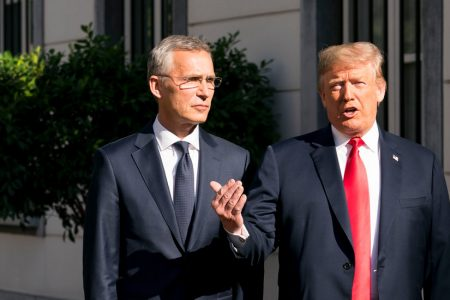 Trump Assails NATO on Military Spending, but Signs Its Criticism of Russia