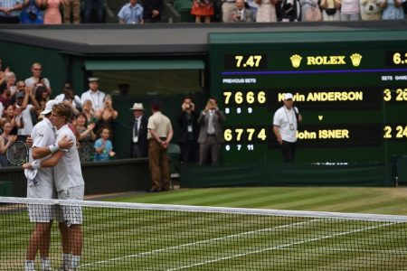 Wimbledon: After Many, Many Hours, Kevin Anderson Beats John Isner in the Semifinals