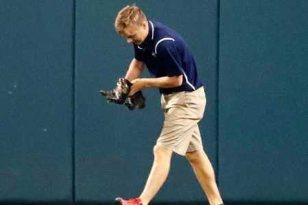 St. Louis Cardinals groundskeeper hit in head during first pitch