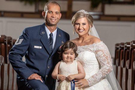 3-year-old battling cancer is flower girl in bone marrow donor's wedding