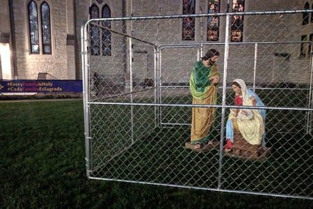Indiana church protests Trump's immigration policies by holding Jesus, Mary and Joseph in 'ICE detention'