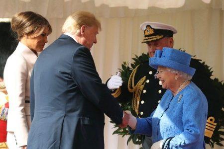 President Trump, First Lady Melania Trump meet Queen Elizabeth II at Windsor Castle