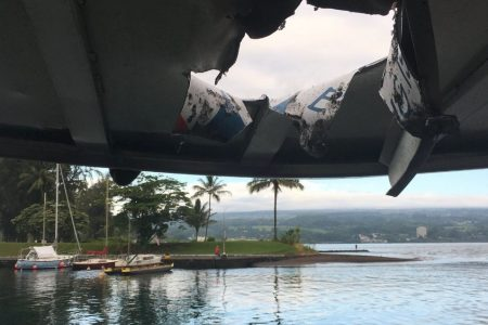 Lava explosion near Hawaii tour boat injures at least 23