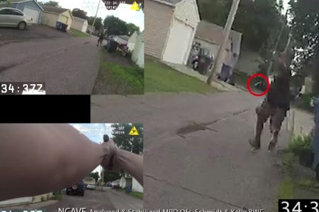 Minneapolis police release body camera footage of fatal shooting of armed man during chase
