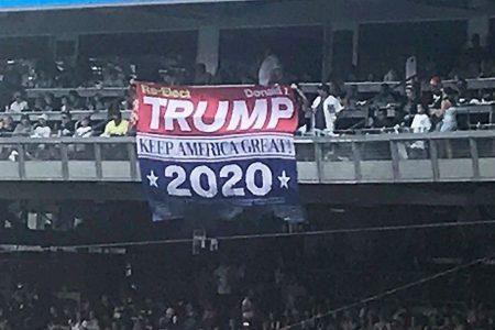 'Trump 2020' banner unfurled at Yankees game