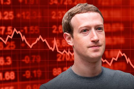 Facebook 'puts privacy first' and stock plunges 20%