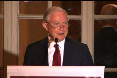 Attorney General Jeff Sessions repeats 'lock her up' chant