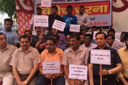 'Walmart Go Back': India's mom-and-pop stores protest Flipkart deal