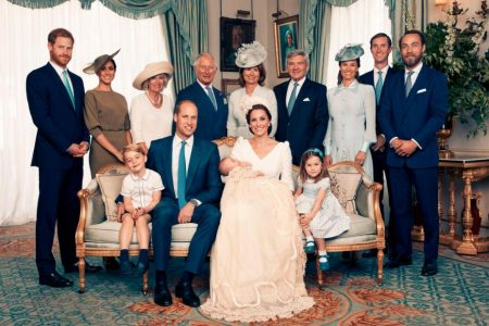 Prince Louis' christening photos show grinning Prince George