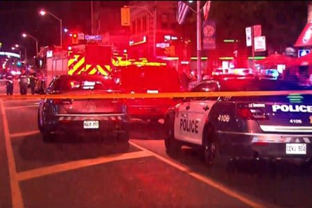 At least 9 people shot in Toronto and shooter is dead, police say