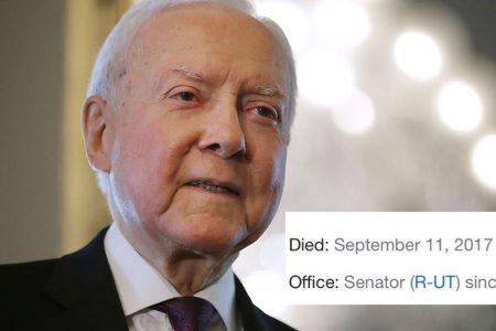 US Senator Orrin Hatch kindly reminds Google that he's still alive