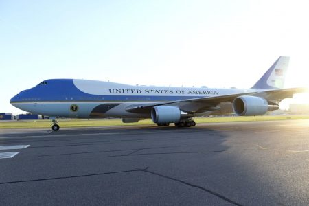 New Air Force One will be painted red, white and blue, Trump says