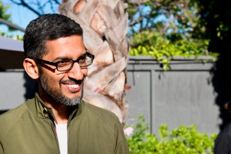 Sundar Pichai strayed from Google's typical rhetoric as he touted the growth of Google Cloud