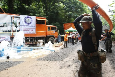 Thailand cave rescue: Volunteers inadvertently pumped water back into tunnels