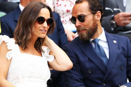 Pregnant Pippa Middleton glows in frilly frock at Wimbledon