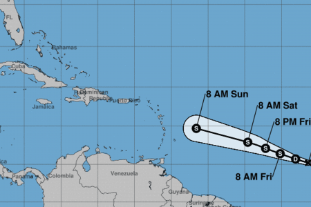 Tropical Storm Beryl forms, expected to weaken before hitting Caribbean