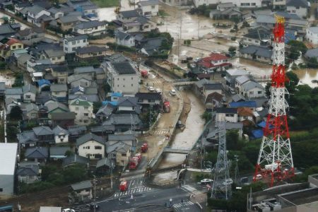 Dozens dead, more than 90 reported missing as heavy rain hits Japan