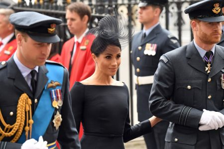 Duchess Meghan, Prince Harry join queen for Royal Air Force 100th anniversary celebrations