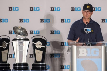 What does a quieter Jim Harbaugh say about Michigan in 2018?