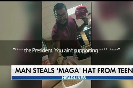 Man accused of tossing drink at pro-Trump teen inside Whataburger arrested