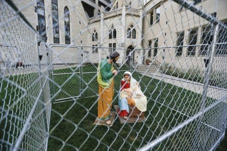 A church put Jesus, Mary and Joseph in 'ICE detention' to protest Trump's immigration policies