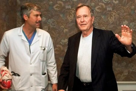 Police release photos of former Bush cardiologist and suspect moments before fatal shooting