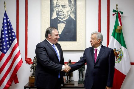 Amid protests, Pompeo and other US officials visit Mexico's next president