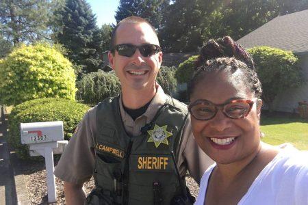 A black lawmaker was campaigning door to door in her district. A constituent called 911.