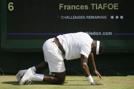 Frances Tiafoe runs out of steam in deflating five-set loss at Wimbledon
