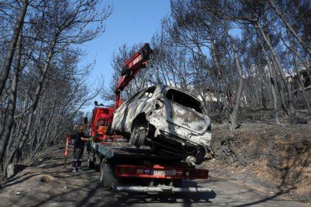 Heartbreak: Funerals begin for Greece's wildfire victims