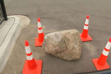 Mother, daughter killed when 800-pound boulder fell off truck, smashed their car; driver in custody: Police