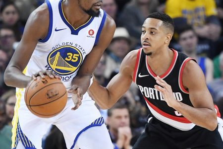Kevin Durant Laughs at CJ McCollum Suggesting Blazers Could Win NBA Title