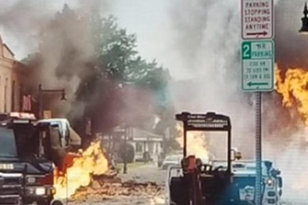 Natural gas explosions rock Madison, Wisconsin suburb, level buildings