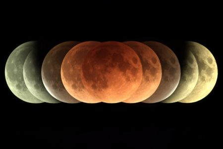 The total lunar eclipse would look stunning from the moon — Earth's sunrise and sunset will connect in a ring of fire