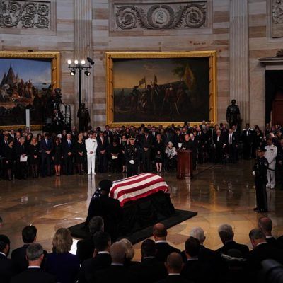 Congress Honors One of Its Own: John McCain Lies in State in US Capitol