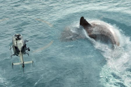 Shark attacks helicopter! 5 favorite, outrageous shark-movie moments in honor of 'The Meg'