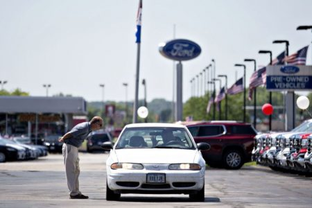 Major automakers report drop in US vehicle sales for July