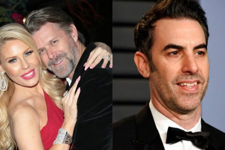 'Real Housewives' stars Gretchen Rossi and Slade Smiley are 'honored' by Sacha Baron Cohen prank