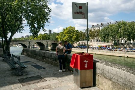 Where to Go in Paris? The Red-Topped Trash Can