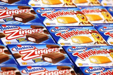 Walmart is giving less shelf space to Twinkies. Hostess falls 16%