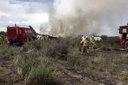 A plane carrying 103 people crashed, then burned in Mexico and no one died