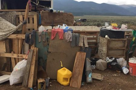 What authorities found inside the New Mexico compound