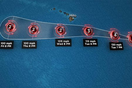 Category 4 Hurricane Hector heads toward Hawaii