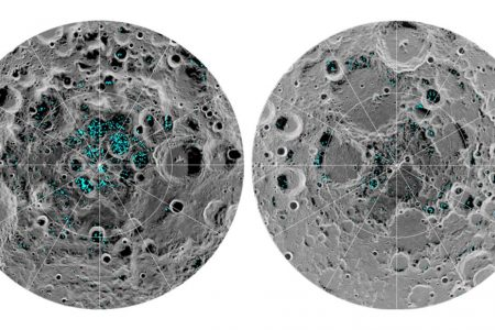 Water ice found at the moon's poles, study says