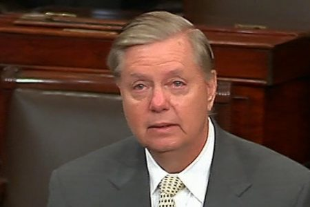 Lindsey Graham gives a tearful tribute to John McCain on the Senate floor