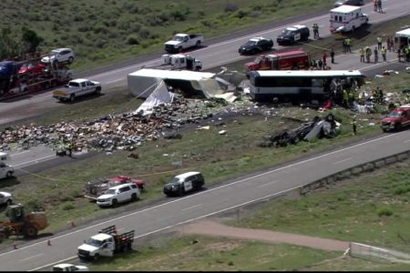 4 dead in New Mexico bus-truck crash, state police say
