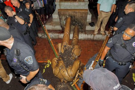 3 Are Charged in Toppling of 'Silent Sam' Statue