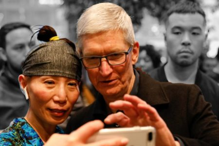 Tim Cook admitted Tuesday night that smartphone sales may shrink and, significantly, he's OK with that