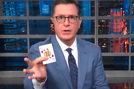 Stephen Colbert Uses Magic To Jog Penn Jillete's Memory About Donald Trump